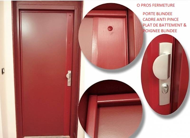 Blindage de porte sur mesure marseille 13010 o pros fermeture - Porte blindee sur mesure ...